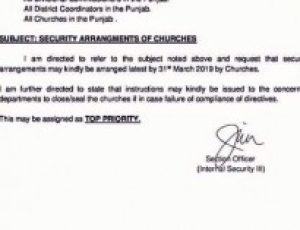 Pakistan:  Church closures warning if security arrangements are not made